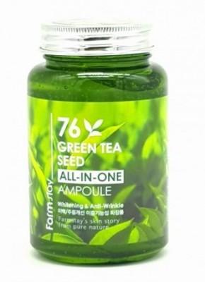 Сыворотка ампульная с зеленым чаем FARMSTAY 76 Green tea all-in one ampoule 250 мл: фото