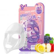 Маска тканевая с фруктами ELIZAVECCA Fruits deep power ringer mask pack 23 мл: фото