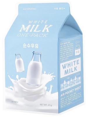 Тканевая маска молочная увлажняющая A'PIEU White Milk One-Pack 21г: фото