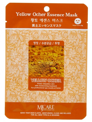 Маска тканевая охра Mijin Yellow Ocher Essence Mask 23г: фото