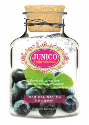 Маска тканевая c экстрактом черники Mijin Junico Blueberry Essence Mask 25г: фото