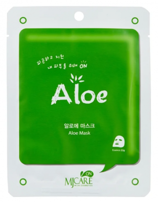 Маска тканевая с алоэ Mijin MJ CARE on Aloe mask pack 22г: фото
