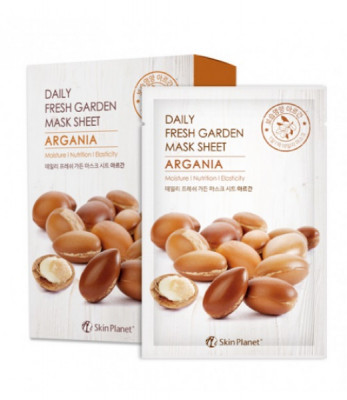 Маска для лица тканевая аргана Mijin Skin Planet daily fresh garden mask sheet ARGANIA 25гр: фото