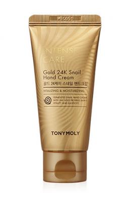 Крем для рук с муцином улитки и золотом Tony Moly Intense Care Gold 24k Snail Hand Cream 60мл: фото