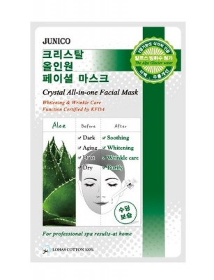 Маска тканевая c алоэ Mijin Junico Crystal All-in-one Facial Mask Aloe 25г: фото