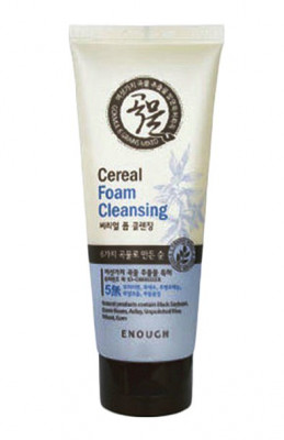 Пенка для умывания со злаками Enough 6 Mixed Cereal Foam Cleanser 180мл: фото