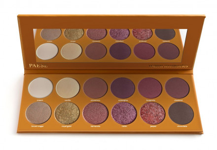 Палетка теней PAESE WARM MEMORIES EYESHADOWS PALETTE 12 цветов: фото