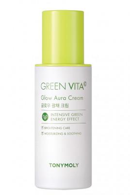 Крем для сияния кожи с витамином C TONY MOLY GREEN VITA C Glow Aura Cream 50мл: фото