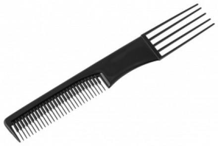 Расческа с пластмассовой вилкой Sibel FORK COMB черная: фото