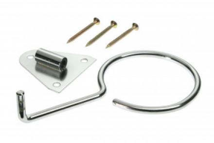 Фенодержатель с металлическим кольцом настенный Sibel серебристый: фото
